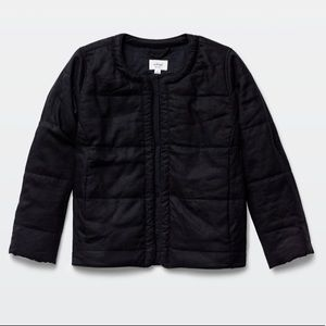 Aritzia Wilfred Jonquille Quilted Jacket in black